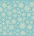 vintage seamless snowflake pattern eps 10 vector image