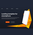 white smartphone landing page template modern vector image