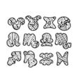 Zentangle zodiac icons Funny bubble style for vector image