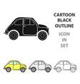 italian retro car from italy icon in cartoon style vector image