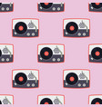 player for vinyl record music flat seamless vector image