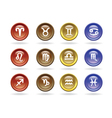 zodiac signs glossy icons vector image