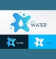 logo water liquid vector image