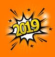 2019 comic text speech bubble vector image vector image