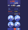 abstract cityscapes infographics town city vector image vector image