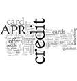 advantages of the apr credit card
