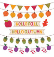 autumn banners set isolated decoration set vector image vector image