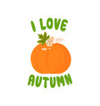 autumn time colorful juicy autumn icons with vector image