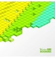 Background of cubes vector image
