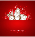 Background with Santa Claus vector image vector image