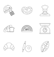 Bakery icons set outline style vector image vector image