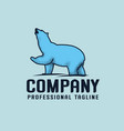 blue bear logo template vector image