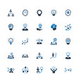 brainstorming and idea development icons - set 1 vector image vector image