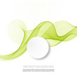bright green waves abstract background vector image vector image