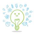 Bulb idea cute vector image vector image