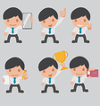 Character Business Worker Cartoon Set vector image vector image