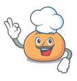 chef mochi character cartoon style vector image vector image
