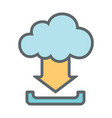 cloud download flat icon sign logo vector image vector image