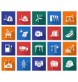 collection of square icons industries vector image