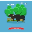 concept poster of beef farm Grazing cattle vector image