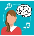 Creative and intelligent mind vector image vector image