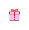 creative gift gentleman tie logo vector image vector image