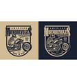 custom american motorcycle vintage logotype vector image vector image