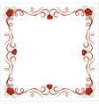 Delicate frame with poppy flowers vector image vector image