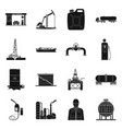 design of oil and gas sign set of oil and vector image