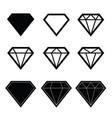 diamond set in black color vector image