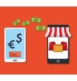e-commerce smartphone tranfer money payment vector image