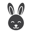 easter rabbit glyph icon easter and holiday vector image
