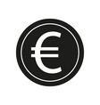 euro sign black icon on vector image vector image