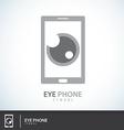 Eye Phone symbol icon vector image