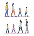 family walking mask vector image