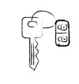 figure key door to security and protection design vector image vector image