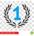 First Laurel Wreath Eps Icon vector image