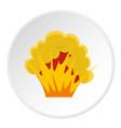 flame and smoke icon circle vector image vector image