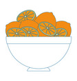 fruits on dish vector image vector image