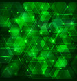 green abstract techno background vector image vector image