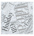 Holiday Gift Ideas That Are Perfect For Men Word vector image vector image