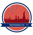 Independence day of America NY City skyline vector image vector image