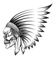 Indian Skull Emblem vector image vector image