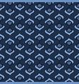 indigo blue dye flower damask pattern seamless vector image vector image