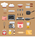 Kitchen Equipment Icons Set vector image vector image