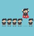 leader among crowd concept superhero business vector image