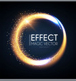 magic circle light effect glittering and shining vector image