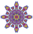 mandala pattern of henna floral elements vector image vector image