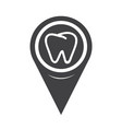 map pointer tooth icon vector image vector image