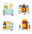 medical drug for healthcare vector image